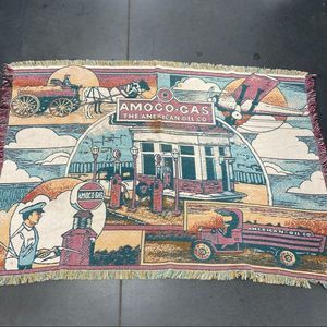 Rare Vintage Amoco Oil Tapestry Throw
